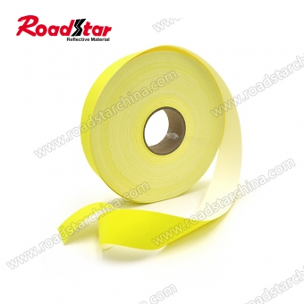 Fluorescent yellow reflective flame retardant fabric