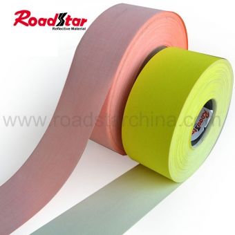 Colored TC backing reflective fabric