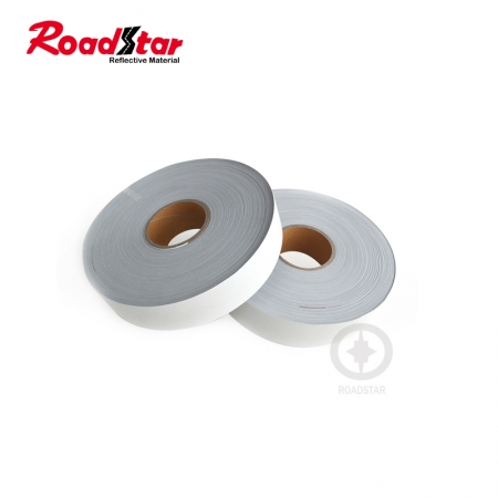 Silver Aramid Backing Flame Retardant reflective tape for clothing RS-FR01A
