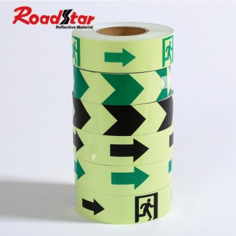 glow in the dark tape with arrow