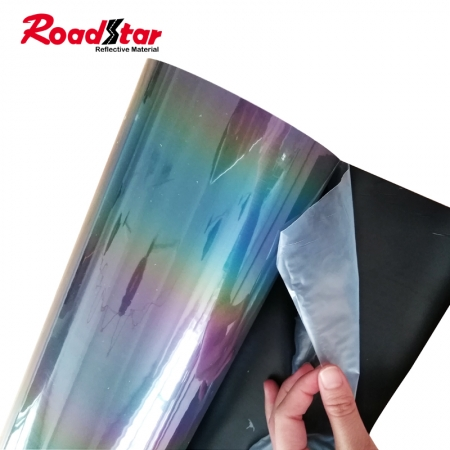 Rainbow Color Retro Reflective Heat Transfer Vinyl for clothing