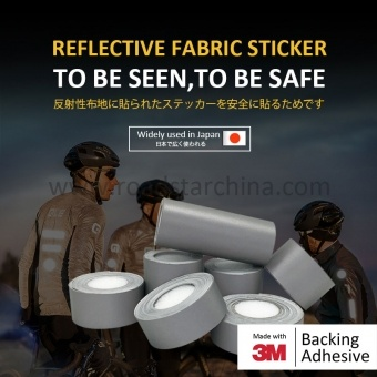 Custom High Silver Tc Self-Adhesive Reflective Fabric Sticker For Safety,Jackets ,Bike