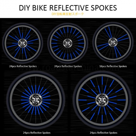 12 pcs Colorful Bike reflective Spoke Reflectors covers for bicycle wheel stick